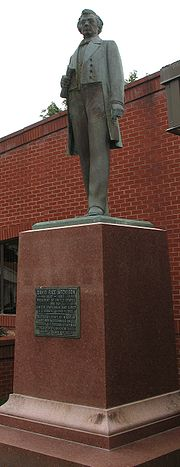Statue at Clinton County Courthouse in Missouri