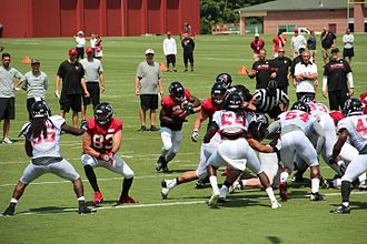2016 Atlanta Falcons season - Falcons players at training camp, July 2016.