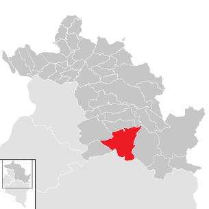 Lage der gemeinde au vorarlberg im bezirk bregenz anklickbare karte