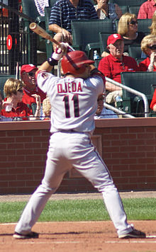 Augie Ojeda at bat in September 2008.jpg