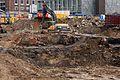 Ausgrabung auf der Baustelle Schloßstraße (02) (26405503640).jpg