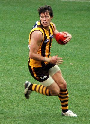 Robert Campbell (Australian rules footballer) - Robert Campbell playing for Hawthorn on 5 August 2008