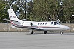 Australian Air Services Pty Ltd (VH-NOU) Cessna 501 Citation I SP at Wagga Wagga Airport.jpg