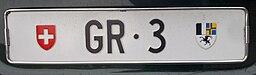 Autokennzeichen GR 3