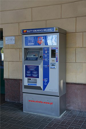 Ticket machine - Image: Automat biletowy 2