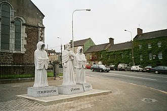 Fermoy - Mick Davis's sculpture from 2001 referencing Cistercian monks in Fermoy