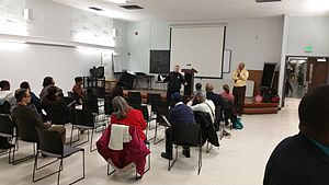 Belair-Edison, Baltimore - Belair-Edison Community Association Meeting at the Herring Run Library in February 2015.