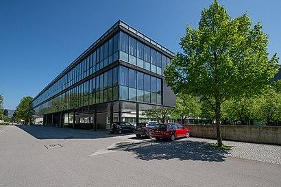 So kommt man zu Gymnasium Feldkirch mit den Öffentlichen - Mehr zum Ort Hier