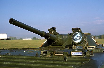 Detailed view of the BMP-1's turret at Bolling Air Force Base.