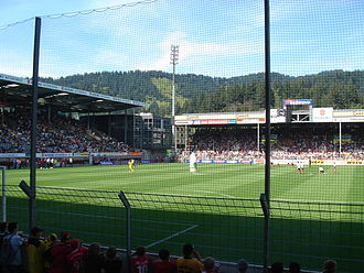 Schwarzwald-Stadion - View to the northwest