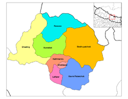 Location of Lalitpur District in Bagmati Zone