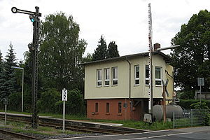 Staffel station - Staffel station: southern signal box