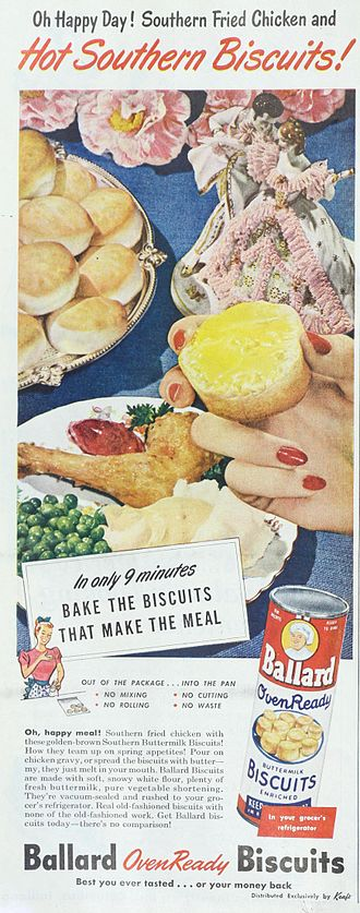 Biscuit (bread) - 1948 ad for Ballard Biscuits as described.