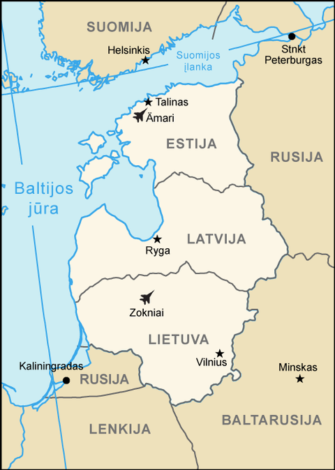 Ämari and Zokniai air bases in the Baltic states.