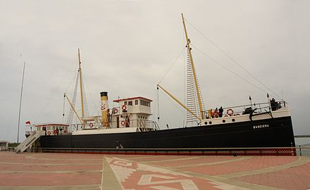 Replica of the cargo ship SS Bandirma, which carried Ataturk from Istanbul and arrived in Samsun on May 19, 1919, the date which traditionally marks the beginning of the Turkish War of Independence. Bandirma.jpg