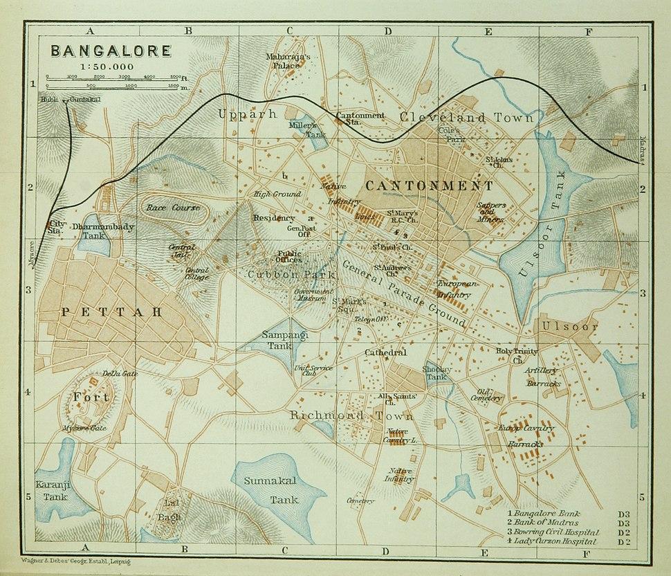 Bangalore (Baedeker, 1914)