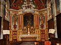 Bannans, près Pontarlier, église, retable baroque maître autel.JPG
