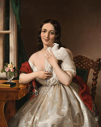 Miklós Barabás - Pigeon post (1843)
