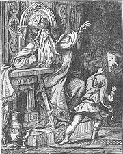 The ever-living Frederick Barbarossa, in his mountain cave: a late 19th century German woodcut
