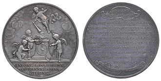 Barend Christiaan van Calker - Medal to commemorate the 25th anniversary of the marriage of Antony Jacob Bierens and Suzanna Hazina Willink in 1771, collection Amsterdam Museum