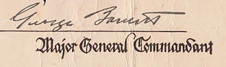 George Barnett - Signature of George Barnett