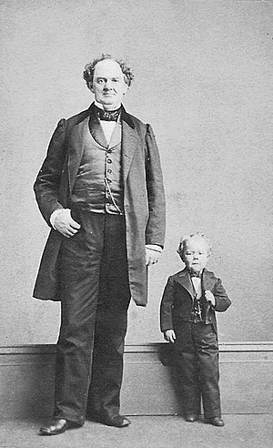 P. T. Barnum - Barnum with Commodore Nutt, photograph by Charles DeForest Fredricks