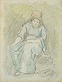 Barrias F.J. - Watercolour & Charcoal - Femme assise - 17.1x22.5cm.jpg