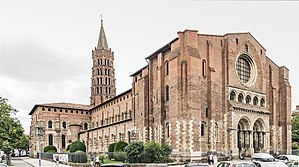 Basilica of Saint-Sernin, Toulouse - Western entrance of the basilica.