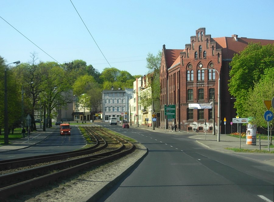 Bernardyńska Street in Bydgoszcz