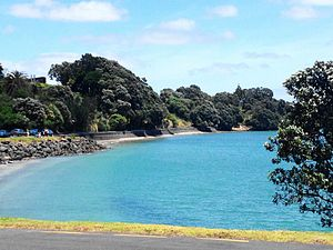 Sunkist Bay in Beachlands, New Zealand