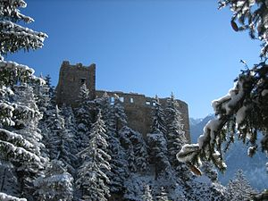 Alvaneu - Belfort castle ruins near Alvaneu