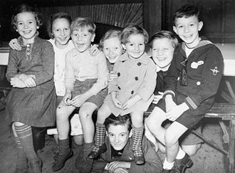Belgian government in exile - Belgian refugee children in London in 1940