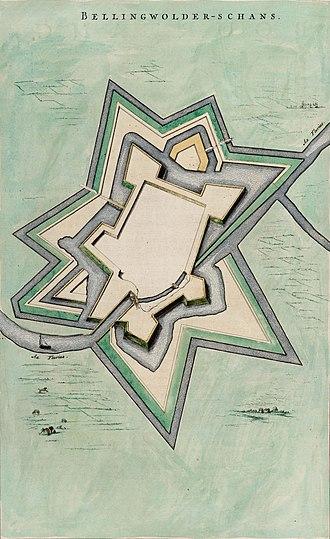 Oudeschans - Image: Bellingwolder Schans (Atlas van Loon)