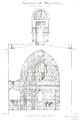 Belmont Abbey Church Transverse Section Désiré Louis Camille Enlart 1921 Dec.png