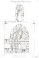 Belmont Abbey Church Transverse Section Désiré Louis Camille Enlart 1921 Dec.png