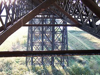 Bennerley Viaduct - The Structure of the Viaduct as seen from under the Deck