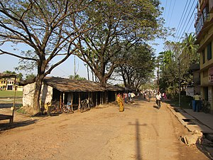 Baduria - The Berachampa-Baduria road at Baduria sub-post office.