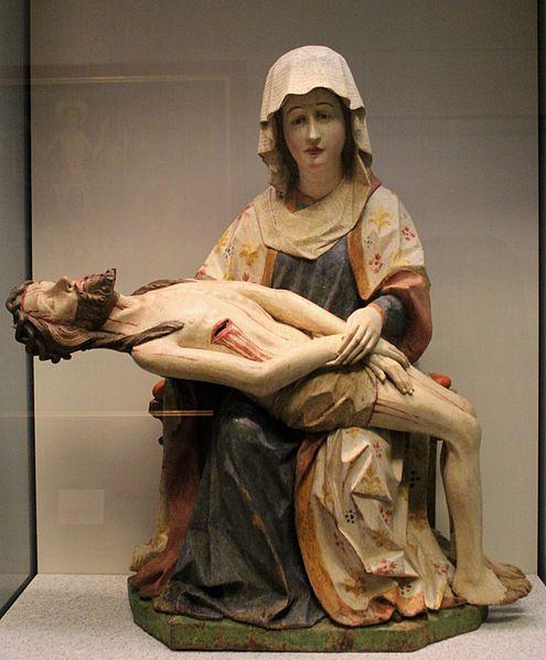 Pieta gothique allemande dans le musée - Photo de Miguel Hermoso Cuesta