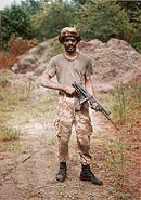 Bermuda Regiment NCO in No 5 Dress