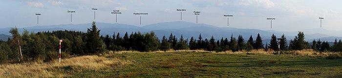 Beskid Żywiecki - view from Leskowiec