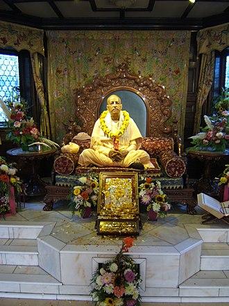 Bhaktivedanta Manor - Shrine to A.C. Bhaktivedanta Swami Prabhupada, at Bhaktivedanta Manor