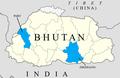 Bhutan districts Paro & Zhemgang.png
