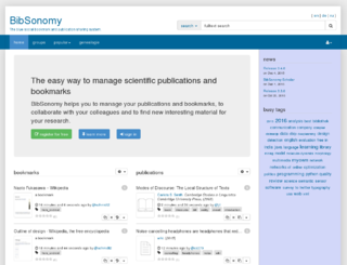 BibSonomy social bookmarking and publication-sharing system