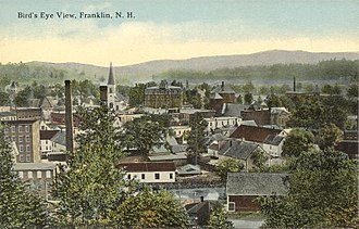 Franklin, New Hampshire - Image: Bird's eye View, Franklin, NH
