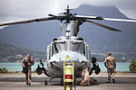 Birds of paradise, Marine attack, transport helicopters take flight over Hawaiian Islands 130613-M-MM918-005.jpg