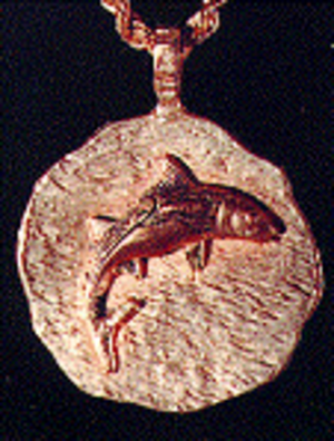 Black Tuna Gang - One of the Gold Medallions worn by the Black Tuna Gang to signify membership (Text by Drug Enforcement Administration).