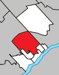 Location within Thérèse-De Blainville RCM