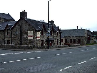 Blair Athol distillery - The distillery along Perth Road