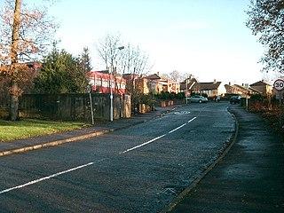 Blairhall village in Fife, Scotland, UK
