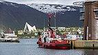 Blick vom Hafen Richtung Eismeerkathedrale Tromsø.jpg